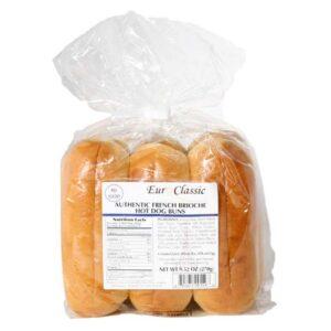 Euro Classic French Brioche Hot Dog Buns [17pk]