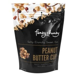 Funky Chunky Peanut Butter Cup Popcorn