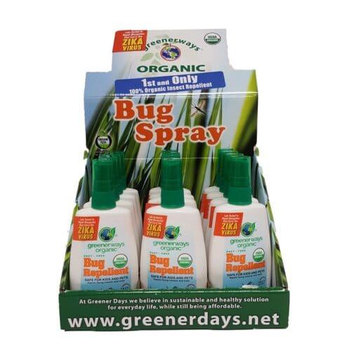 Greener Ways Organic Bug Repellent Display(12/4oz)