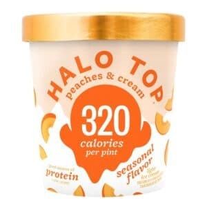 [F] Halo Top Ice Cream Peaches & Cream