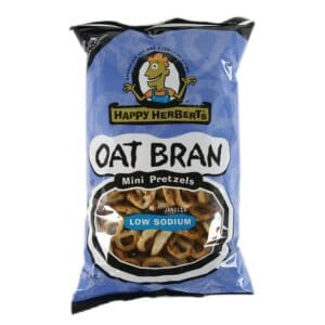 Happy Herbert's Organic Oat Bran Mini Pretzels (No Salt) (