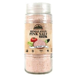 Himalayan Pink Salt Fine Glass Jar (Large) (6/17.5oz)