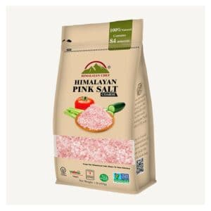 Himalayan Pink Coarse Salt Stand Pouch w/ Window (6/16oz)