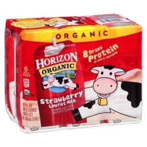 Horizon Organic Reduced Fat 1% Strawberry Milk (3/6 Pk)