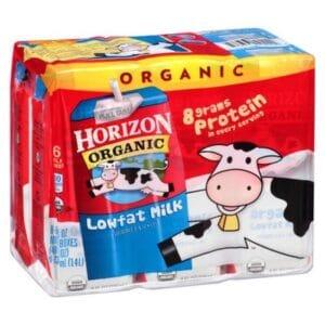 Horizon Organic Reduced Fat 1% Plain Milk (3/6 Pk)