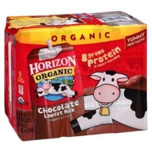 Horizon Organic Reduced Fat 1% Choco. Milk (3/6 Pk)