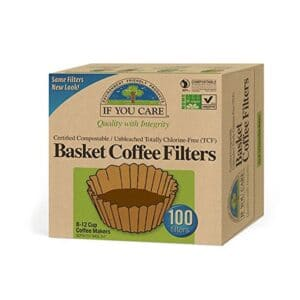 If You Care Basket Filters Unbleached 8""