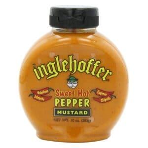 Inglehoffer Squeeze Mustard Sweet Hot Pepper