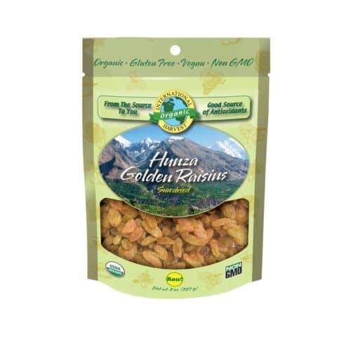 Intl Harvest Organic Hunza Golden Raisins