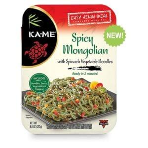 KA-ME Asian Meal Kits Noodles Spicy Mongolian
