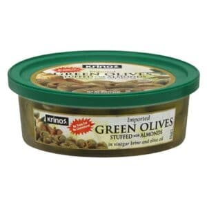 Krinos Pitted Green Olives (Small) (12 pc) (
