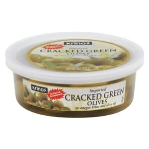 Krinos Green Cracked Olives (Small) (12 pc)
