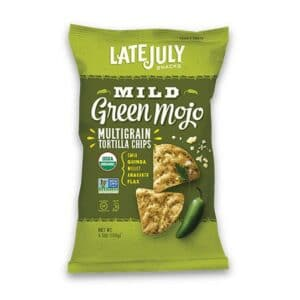 Late July Organic Multigrain Tortilla Chips Mild Green Mojo