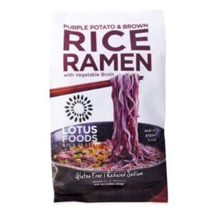 Lotus Single Serve Ramen Purple Potato & Brown Rice w. Turmeric Curry