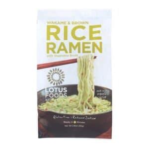 Lotus Single Serve Ramen Wakame & Brown Rice w. Vegetable Soup