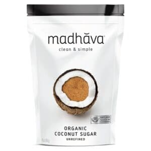 Madhava Organic Coconut Sugar Pure & Unrefined [16oz, Bag]