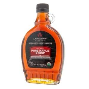 Lapierre Maple Syrup 100% Pure ORGANIC Grade A Dark Amber (12.50 oz)