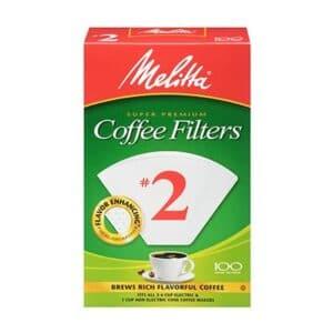 Melitta Cone Coffee Filter #2 White