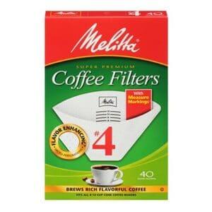Melitta Cone Coffee Filter #4 White