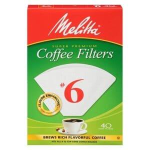 Melitta Cone Coffee Filter #6 White