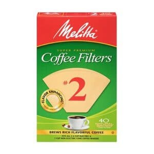 Melitta Cone Coffee Filter #2 Nat.Brown