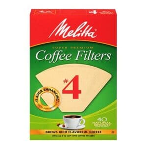 Melitta Cone Coffee Filter #4 Nat.Brown