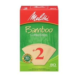 Melitta Bamboo Cone Coffee Filter #2 Brown