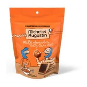 Michel et  Augustin 15 Cookie Square Bag Milk Chocolate & Caramel