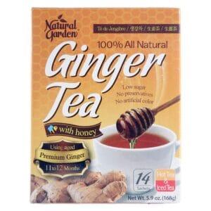 Natural Garden Ginger Tea Honey (14 sachets)