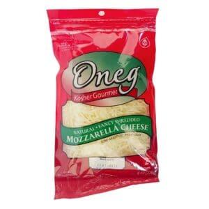 Oneg Kosher Shredded Mozzarella Cheese (12 pc)