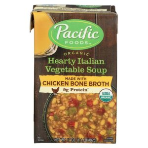 Pacific Org. Chicken Bone Broth Hearty Italian Vegetable Soup