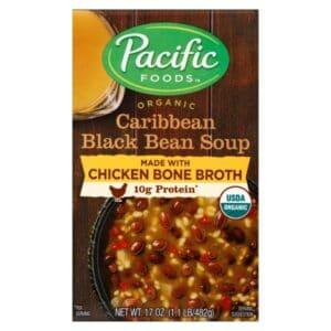 Pacific Org. Chicken Bone Broth Caribbean Black Bean Soup