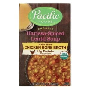 Pacific Org. Chicken Bone Broth Harissa-Special Lentil Soup