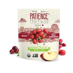 Patience Org. Whole Dried Cranberries Whole & Apple Juice