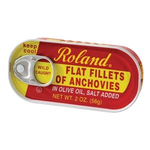 Roland Flat Anchovy in Olive Oil  (18222)