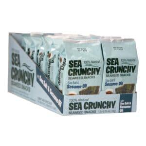 Seacrunchy Seaweed Snacks Sea Salt & Sesame Oil