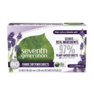 Seventh Generation Laundry Additives Fabric Softener Sheets - Blue Eucalyptus & Lavender