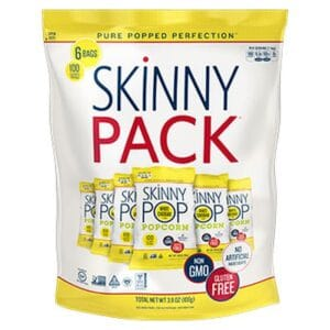 SkinnyPop White Cheddar 100-Calorie Bags (10/6pk/0.65oz)