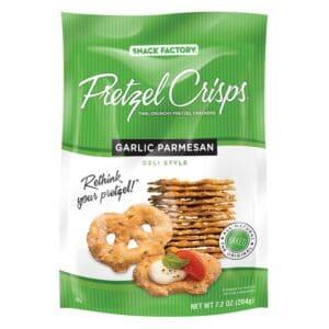 Snack Factory Pretzel Crisps Garlic Parmesan (12/7.20 oz)