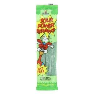 Sour Power Straws Greenapple