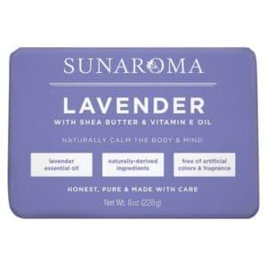 Sunaroma Bar Soap Lavender w/Shea Butter & Vitamin E Oil