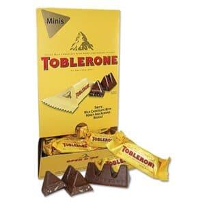 Toblerone Mini Milk Chocolate Display 100ct