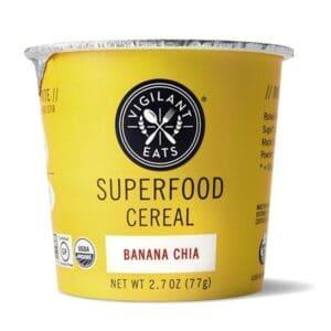 Vigilant Eats Org. Superfood Cereal Cups Banana Chia