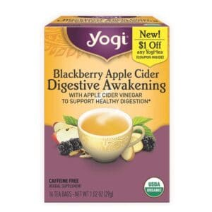 Yogi Tea Blackberry Apple Cider Digestive Awakening