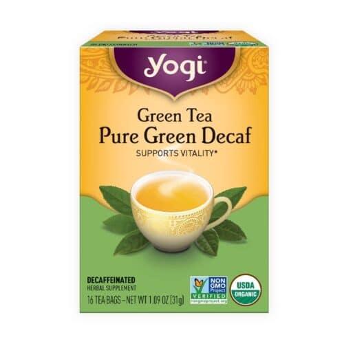 Yogi Green Tea Pure Green Decaf.