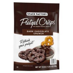 Snack Factory Pretzel Crisps DARK CHOCOLATE CRUNCH