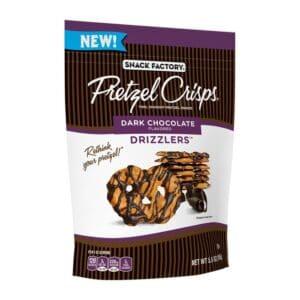 Snack Factory Pretzel Crisps DRIZZLERS DARK CHOCOLATE